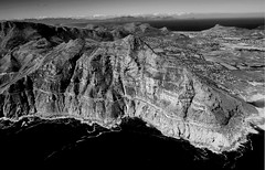 Chapmans Peak Drive (Paolo_Monti) Tags: south africa capetown chapmanspeakdrive bw blackwhite bianconero olympus em1 blancoynegro noirblanc air elicopter airview noiretblanc