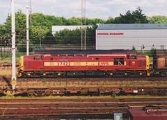 "English Welsh & Scottish Railways Class 37/4, 37422 ""Cardiff Canton"" (37190 ""Dalzell"") Tags: ews englishwelshscottishrailways revised maroongold db dbschenker ee englishelectric type3 growler tractor class37 class374 37422 cardiffcanton 37266 d6966 pathfindertours thelakedistrictexplorer railtour arpleyyard warrington"