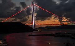 UMT_7732-2 (UmitCukurel) Tags: bridge turkey istanbul bosphorus sony nikon lightroom d750 sonyalpha bogazici kopru night poyrazkoy battleship gemi sky sunset dusk gunbatimi cloud