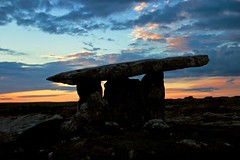 Dolmen, The Burren, Co. Clare (tashaf4) Tags: dolmen ancient stone canon sunset sky silhouette poulnabrone coclare ireland portaltomb neolithic portalstone portal sillstone stacked spiritual balance tomb dslr 2016 august