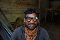 Vyasarpadi (Akilan T) Tags: environmentalportrait weldingglass smile welder welding people portrait cwc546 vyasarpadi chennaiweekendclickers cwc