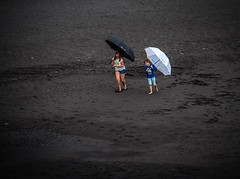 Ballet of the black and white umbrellas 3 (filipmije) Tags: black white umbrella dance children ballet beach lapalma