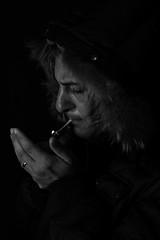 Relativit emozionale 2 (Marco Salomone ) Tags: canon eos 5d markiii 2470 sigaretta fuoco fumo luce flash