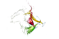 Collision! (Ramakant Sharda Photography) Tags: glass colors color red yellow green splash high speed