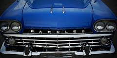 blue rambler (jtr27) Tags: dsc03540e jtr27 sony alpha alpha7 a7 ilce7 ilce csc mirrorless konica hexanon 50mm f14 manualfocus rambler classic antique vintage auto automobile chrome american
