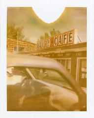 Bluff, UT (moominsean) Tags: polaroid 190 instant type690 expired052009 utah bluff dairycafe desert