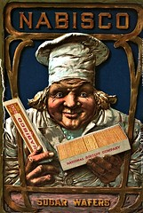 Ad for sugar waffers from 1901 (SSAVE w/ over 6 MILLION views THX) Tags: nabisco sugarwaffers advertising 1901 cookies vintagead