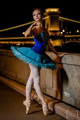 balet dancer in the heart of Budapest #6 (gab.imre) Tags: balet dancer budapest night nightshot downtown art flash blue girl hungarian
