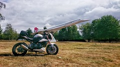 Triumph Speed Triple 1050 (urbannivag) Tags: triumph speedtriple 1050 concorde motorcycle airplane brooklands