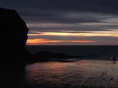 llangrannog late sunset (the incredible how (intermitten.t)) Tags: llangrannog ceredigion beach seaside sunset sea sky 20160824 7865