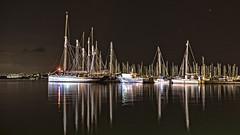 shiny nights (HHH Honey) Tags: minimoonxii brixham harbour marina devon september night nightshot longexposure boats masts sonya7rii sigma sigma1735mmlens perfecteffects10
