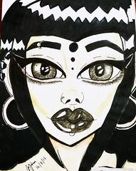 A Goth girl  #artist #artist #artwork #artsy #illustration #illustrationdesign #vfringe #vampire #figureart #alternativeart #alternative #alternativedrawing #blacklips #blacklipstick #alternativegirl #piercings #doodle #drawing #sketch #pastelgoth #stretc (Toxicrage666) Tags: illustration sketch piercings gothgirl goth alternativedrawing artwork colorpencil artsy vampire illustrationdesign alternativegirl alternativeart stretchedlobes alternative artist figureart blacklipstick brushpen drawing gothic micronpen vfringe cretacolor pastelgoth gothicgirl blacklips doodle sakurapens