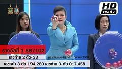 ผลสลากกินแบ่งรัฐบาล ตรวจหวย 1 ตุลาคม 2559 Lotterythai HD - YouTube