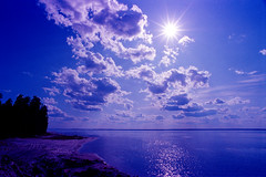 The coast of the Volga River-25 (http://shapkin.0pk.ru) Tags: coast sun blue supershot landscape light summer water scene nature sunlight clouds outdoors view scenery seascape fantastic reflection relax day