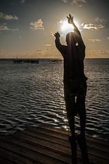 Fisherman (Alfonso Lpez Rodrguez) Tags: indonesia java karimunjawa islands karimunjawaislands mar sea fishing pescando fisherman pescador paisaje landscape beautifullandscape beautifullandscapes beautiful sun sunset sunlight atardecer sol dock pier muelle pantalan