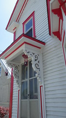 Unique Pittsfield, NH - IMGP5399 (catchesthelight) Tags: pittsfieldnh victorian corbels redwhite gingerbread