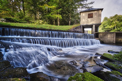 The Spillway, 2016.10.06 (Aaron Glenn Campbell) Tags: ricedam harveyscreek reflections jacksonroad jacksontownship luzernecounty nepa pennsylvania serene secluded rural country outdoors textures longexposure 2ev hdr macphun aurorahdr2017 sony a6000 a6k ilce6000 mirrorless sonyalpha6000 rokinon 12mmf2edasifncs wideangle primelens manualfocus emount