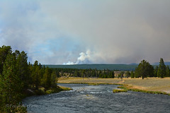 Fire From Firehole River (RootsRunDeep) Tags: fire smoke yellowstone wyoming nature landscape fireholeriver river water explore