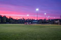 Autumn practice (Erinn Shirley) Tags: erinnshirley baseball practice sunset barcroftsportscenter field lights