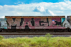 (o texano) Tags: houston texas graffiti trains freights bench benching mage roller wholecar