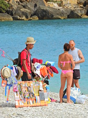 The retail market has bottomed out (Couldn't Call It Unexpected) Tags: retail beach mediterranean bottom bikini sicily italy