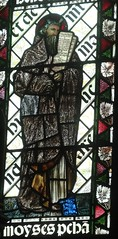 [45593] St Editha, Tamworth : Moses (Budby) Tags: tamworth staffordshire church window stainedglass preraphaelite