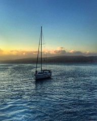 Sail away (maryattica) Tags: view landscape islands santorini greece sky sea sunset boats sailing sail