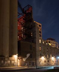 Gold Medal Flour (floating_stump) Tags: minneapolis minnesota lowlight improvisedtripod grainelevator