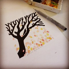 Day 1 (anastasiakhoroshikh) Tags: instagramapp square squareformat iphoneography uploaded:by=instagram hefe inktober inktober2016 inktober2go ink graphic graphicart illustration art inkart inkillustration nature natureart autumn tree treeart myart artwork leaffall watercolor watercolorart sketch inksketch inkstagram inkpen fabercastell instaink
