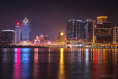 #MG_7566 (kevinho86) Tags: eos6d canon colour city cityscapes citylights citynights longexposures nightscape night urban architectural skyline macao macau  cloudy bridge landscape scenery scape     landmark  innerlights