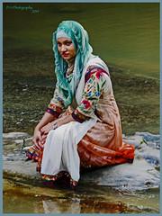 Close to the Madhabkunda Waterfall in Barlekha Upazila (dark-dawud) Tags: woman young lady teenager friend bangladesh sylhet beautiful portrait water beauty pretty colours
