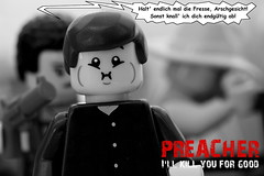 Preacher - Tulip wants to shoot Arseface... (y20frank) Tags: lego preacher tulipohare arseface tvseries amazon god
