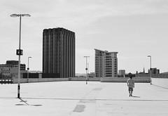 Roof Top (joshuacolephoto) Tags: street streetphotography streetwalk people contrast lines travel explore journey jcm joshuacole nikon f100 ilford xp2 400 135 35mm film bristol peopleofbristol bristolstreetphotography england uk bnw blackandwhite bw noir
