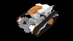 LEGO 7645 MT-61 Crystal Reaper (Micro Scale) (NGCHunter2) Tags: lego mars mission micro scale povray