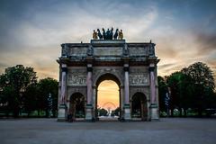 Paris Sunset (Davey Psychotronic) Tags: paris louvre sunset carrousel arc de triomphe champs lyses france