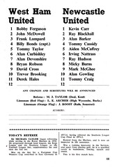 West Ham United vs Newcastle United - 1978 - Page 11 (The Sky Strikers) Tags: west ham united newcastle upton park football league division one hammer 15p official programme