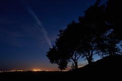 Silhouttes in the blue hour (Budoka Photography) Tags: silhouette tree landscape nature nightphoto wideangle windy nightheaven nightsky nightlights dusk bluehour stars starheaven starry manualfocus manual canonfd20f28 sonyalphailce7rm2 rnneberga twilight