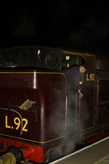 London Transport Scene (gooey_lewy) Tags: chinnor princes risborough railway night shoot london transport 060pt pannier tank engine loco locomotive steam train ballast engineering l92 5786 great western gwr british rail railways br gw 57xx class worcester society martin crease charters red livery lt fireman