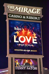 The Mirage sign in Las Vegas (GMLSKIS) Tags: lasvegas nevada sincity mirage cirquedusoleil love sign