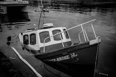 DSC_1076 (jameshowardphotography) Tags: boat boats sinking water harbour whitby mono monochrome railings tide