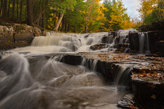 Upper Cascades (eahackne) Tags: waterfall fall autumn color quartzitefalls upperpeninsula slateriver