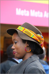 Portrait 6 (Mabacam) Tags: 2016 london trafalgarsquare africaonthesquare blackhistorymonth cultural multicultural community celebration people headgear headwear portrait woman hat earing