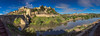View of the Puente of Alcaintara (left) from the east (hippoking) Tags: chui spain toledo city destination panorama travel