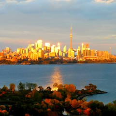 """""""Every sunset is an opportunity to reset""""  -Richie Norton (Trinimusic2008 - stay blessed) Tags: trinimusic2008 judymeikle nature today sunset light cityscape lakeontario water viewfromourcondobuilding toronto to ontario canada trees autumn fall"""