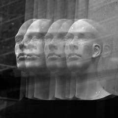115 (eirelgeuse) Tags: bw blackandwhite mannequins identity overlay abstract glitch