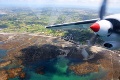 Flying the Trislander aircraft over Guernsey to Alderney / Channel Islands (anji) Tags: alderney channelislands englishchannel stanne bailiwickofguernsey