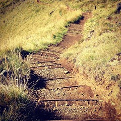 Where does your path lead? (GregKoren) Tags: iceland londranger skysthelimit future stairway path