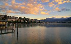 The last sunrise... (Alex Switzerland) Tags: lugano ceresio sunrise alba colors lake landscape paesaggio switzerland ticino svizzera
