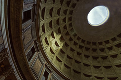 Sunlight Through The Oculus (Mike Schaffner) Tags: church coffer coffered concrete dome italia lazio oculus pantheon roma sky sunlight temple unreinforced italy it