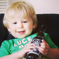 Don't take away my Damnation beer, DAD! #DadsTalking (Adam Walker Cleaveland) Tags: square lofi squareformat iphoneography instagramapp uploaded:by=instagram